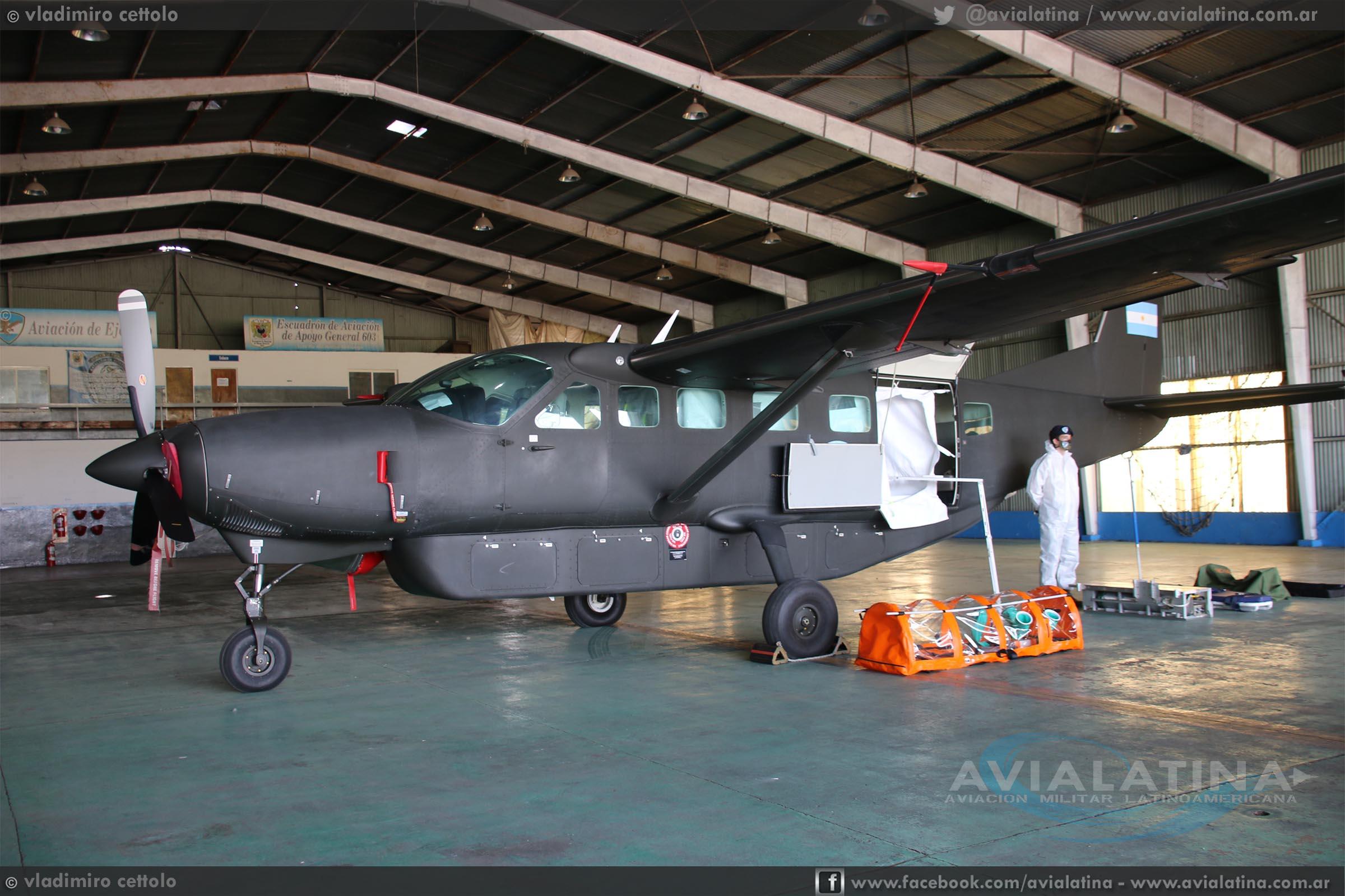Donación de módulo de bioseguridad para aeronaves de la Aviación de Ejército