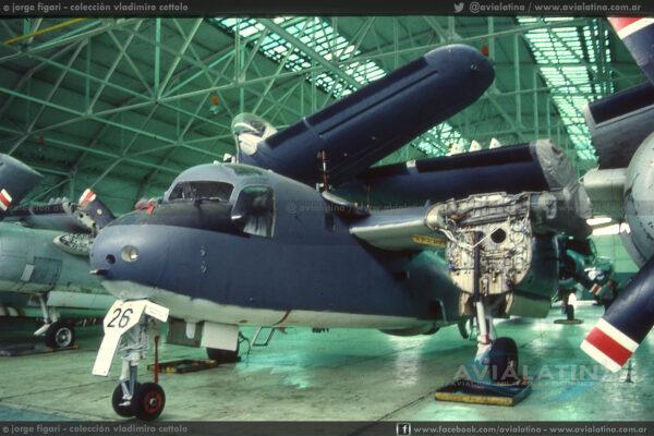 Sin motores, durante una inspección de rutina en la Base Aeronaval Comandante Espora