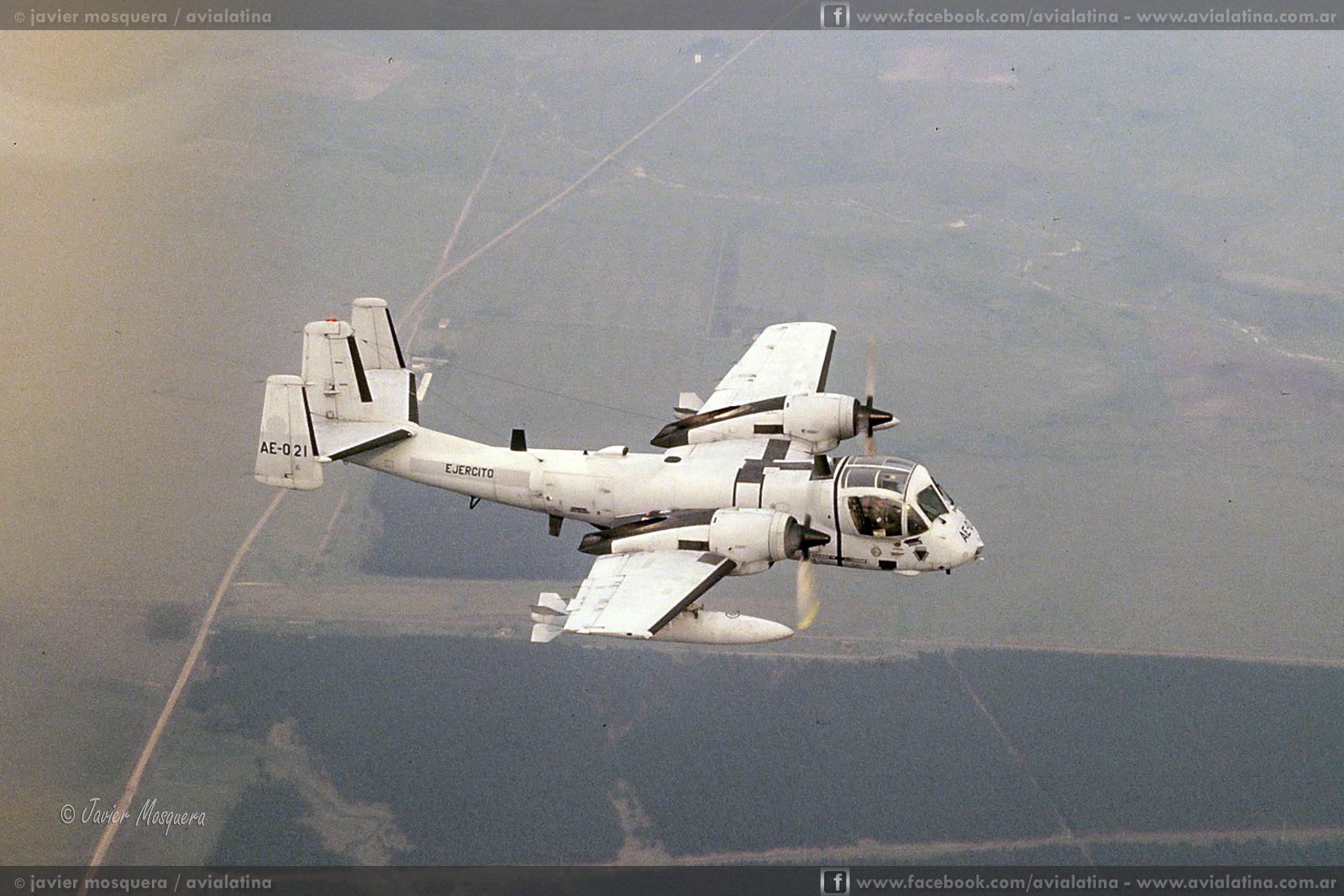 A 28 años de la llegada de los OV-1D Mohawk