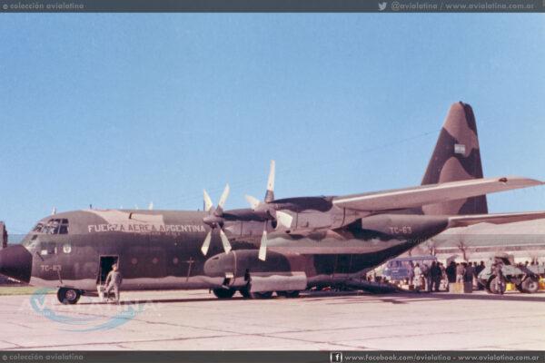 """TC-63, indicativo """"Litro 2"""" fue el segundo C-130 en arribar a Puerto Argentino."""
