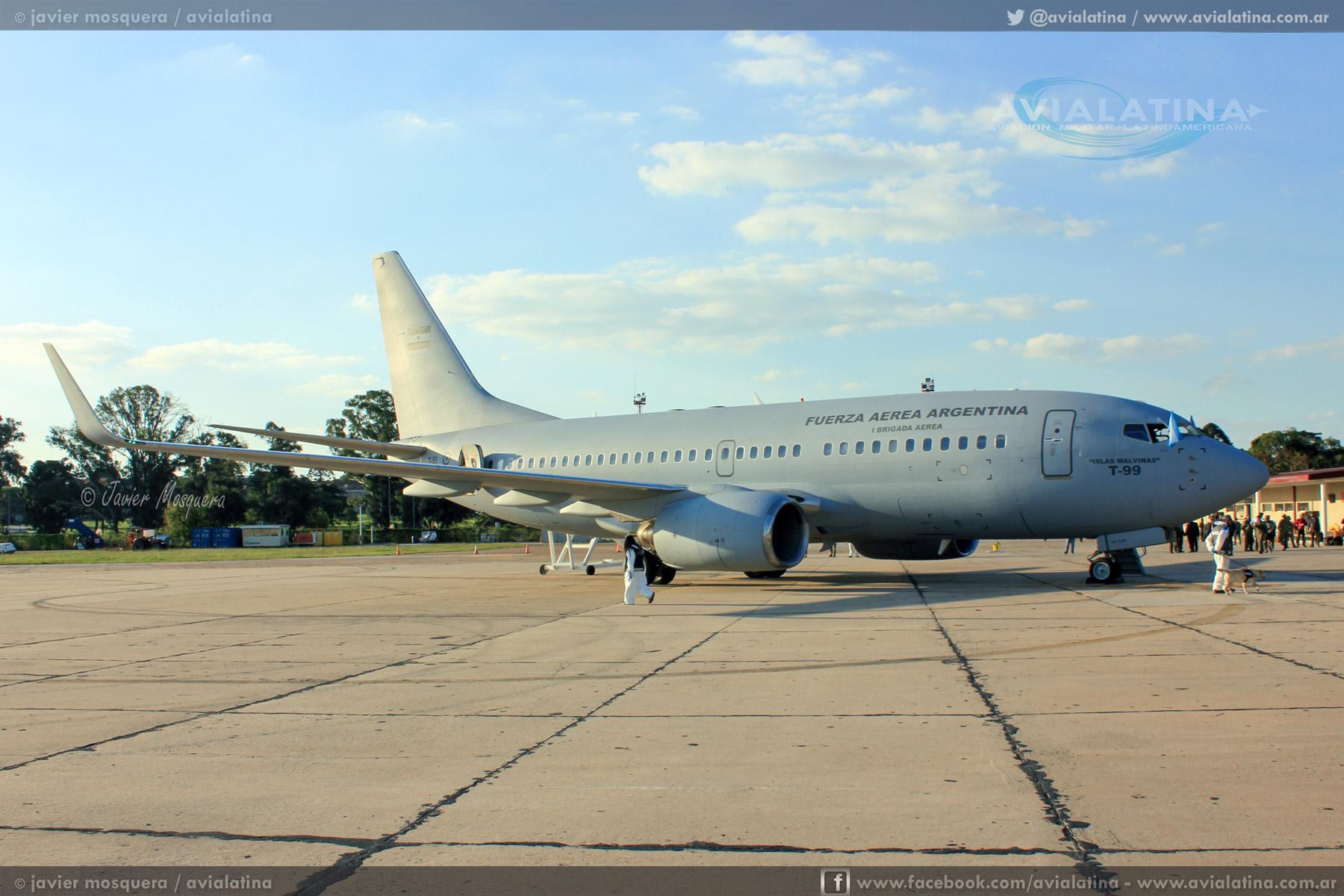 Llegó el Boeing 737 T-99 para la Fuerza Aérea Argentina