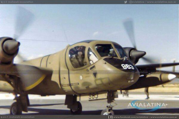68-15963 mientras era un OV-1C, fotografiado en Fort Huachuca en 1976. (John Anderson)