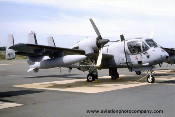 El OV-1D 68-15962 derribado el 27Feb91. La tripulación (CW3 John Adaway/SFC Dwayne Brightwell) se eyectó exitosamente. (www.aviationphotocompany.com)