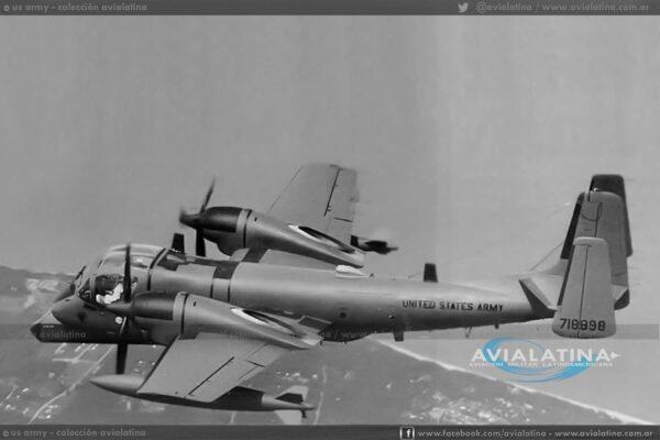 Durante las evaluaciones como prototipo YOV-1D por parte de Grumman. (US Army)