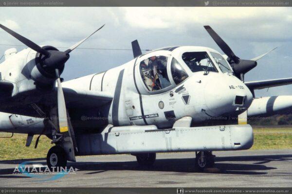 EL AE-037 durante las primeras pruebas con el SLAR. (Javier Mosquera)