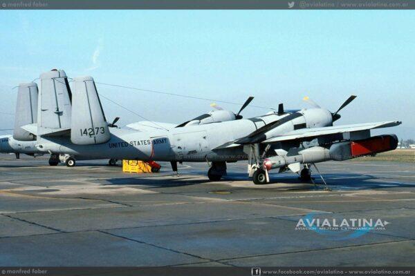 El RV-1D 64-14273 fue derribado el 28Feb91. La tripulación (CPT Attila Barandi/SPC Steve Littleton) también se eyectó sin consecuencias. - (Manfred Faber)