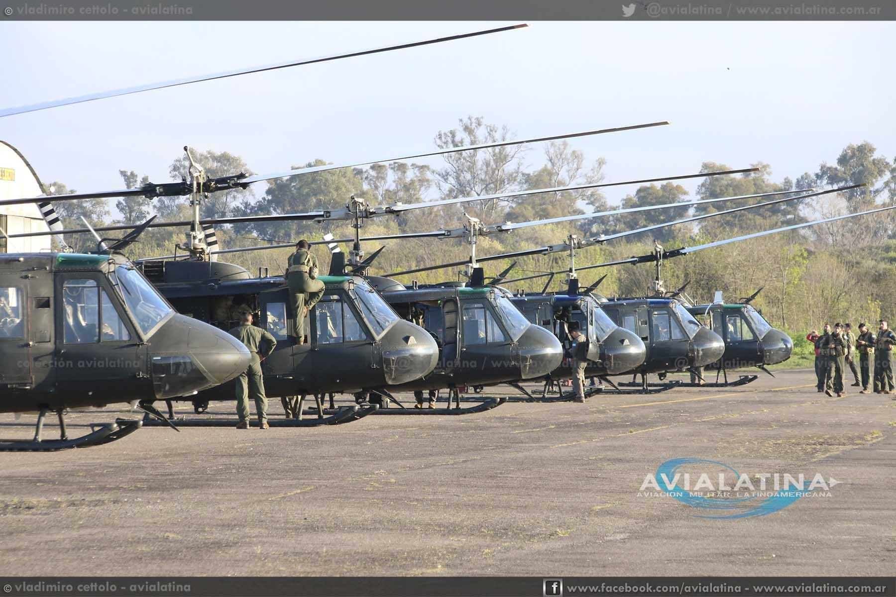La Aviación de Ejército participa del Ejercicio General Arias